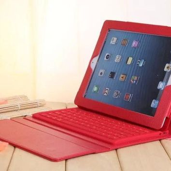 New Stand For iPad air 1 2 Bluetooth Keyboard Bracket PU Case For iPad Air 1 / Air 2 Keyboard Case Wireless Cover