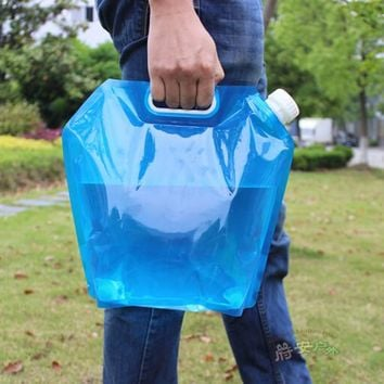 Hot Sale 5L 10L  Collapsible Foldable Water Bag Storage Hand Lifting Hiking Survival Bottle