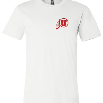 Official NCAA University of Utah Utes The U U of U Swoop Unisex T-Shirt-35uu-a