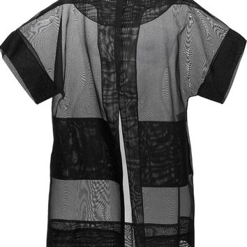 Antonio Berardi oversized sheer short sleeve jacket