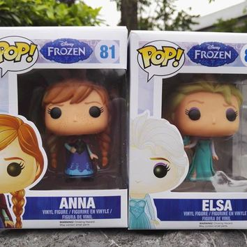Disney Funko Pop Princess Frozen Kids Personalized Birthday Gifts Anime Toy Figures Toys for Children  Elsa Anna Model with Box