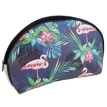 Welcome to the Jungle Flamingo Cosmetic Bag