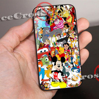 Disney All Friends Character Mickey Mouse for iPhone 4/4s/5/5s/5c Case, Samsung Galaxy S3/S4 Case