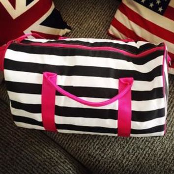 Bags Stripes Korean Gym Travel Bags [11203344967]