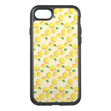 Lemon Pattern OtterBox Symmetry iPhone 7 Case