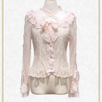 Be My Valentine お花レースアップブラウス/Be My Valentine flower lace up blouse | BABY,THE STARS SHINE BRIGHT