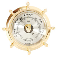Ship's Wheel Barometer, Brass, Other Lifestyle Accessories