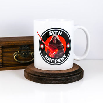 Kylo Ren | Sith Happens | Coffee Mug | Gift for Him | Gift for Her | Cuevex Mugs