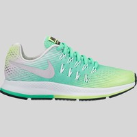 AUGUAU Nike Zoom Pegasus 33 (GS) Ghost Green Metallic Silver