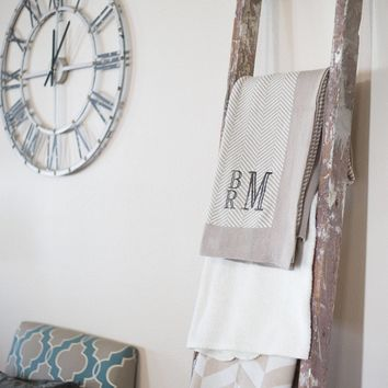 Monogrammed Throw | Monogrammed Blanket | Personalized Blanket | Newly Wed Gift | Wedding Gift | Anniversary Gift | Gift for Couple