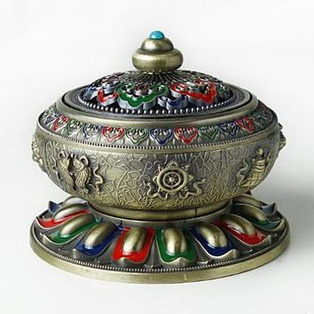 Alloy incense burner with Brass incense holder, no rust no fading,  Antique style