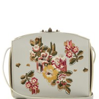 Floral-embroidered leather box bag | Alexander McQueen | MATCHESFASHION.COM UK