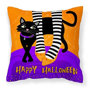 Halloween Witches Feet Fabric Decorative Pillow VHA3038PW1414