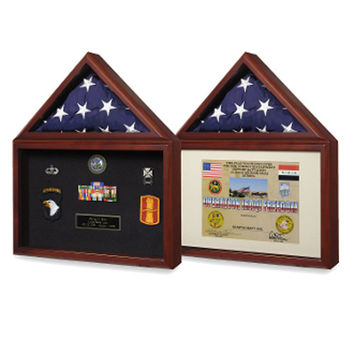 Capitol Flag Presentation Case with Display Shadow Box Hand Made By Veterans