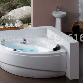 Ocean Shipping Triangular Whirlpool Bathtub Acrylic Piscine Wall Corner Massage Hot Tub W4013