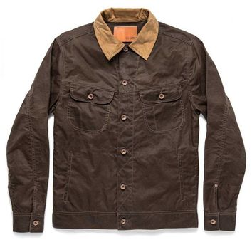 Taylor Stitch - The Long Haul in Tobacco Waxed Canvas Jacket