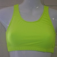 Gemsports Neon Yellow Sports Bra