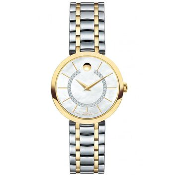 Ladies' Movado 1881 Automatic Two-Tone Diamond Watch