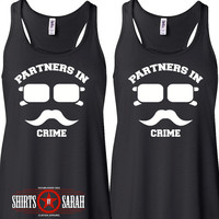 Women's Best Friends Shirt Tanks - Tank Tops Hipster Incognito Partners In Crime Tops Shirts