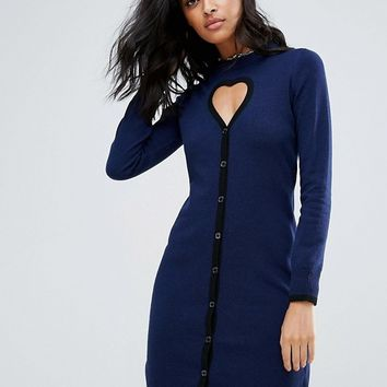 Love Moschino Cyberlove Cashmere Wool Mix Knit Dress at asos.com