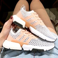 ADIDAS 2019 new mesh breathable casual shoes white&orange