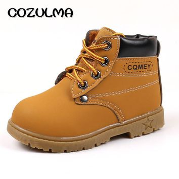 COZULMA Autumn Winter Children Boots Martin Boots Kids Shoes Boys Girls Snow Boots Casual Shoes Sneakers Girls Boys Plush Boots