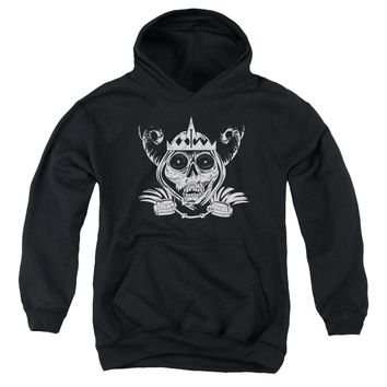 Adventure Time - Skull Face Youth Pull Over Hoodie