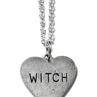 """""""Witch Heart"""" Necklace by Couture By Lolita (Silver)"""
