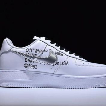 Tagre™ ONETOW Nike Air Force 1 One OFF-WHITE x Nk Air Force 1 Low Running Sport Casual Shoes