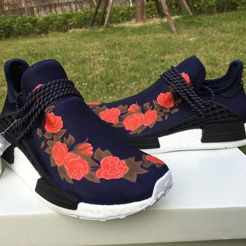 Pharrell × Adidas NMD Human Race Red Rose Size 36-46