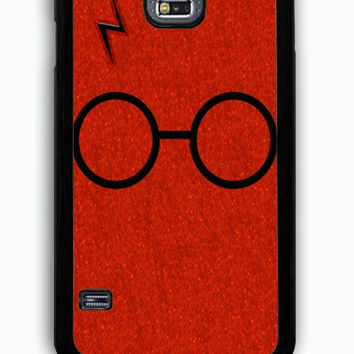 Samsung Galaxy S5 Case - Rubber (TPU) Cover with Harry Potter Glasses and Lightning Bolt Rubber Case Design
