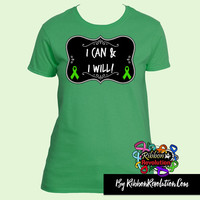 I Can and I Will T-Shirts for Cerebral Palsy, Gastroparesis, Mito Disease, Neurofibromatosis, Stem Cell Transplant & More