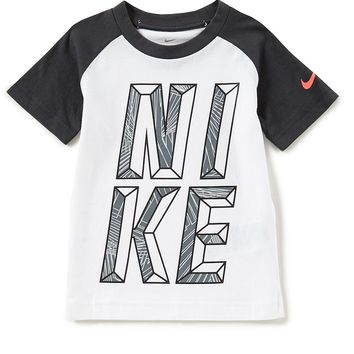 Nike Little Boys 4-7 Short-Sleeve Maze Mash Up Tee | Dillards