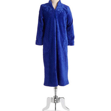 Miss Elaine Dotted Zip Robe