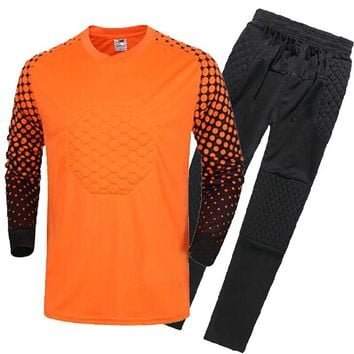For Adult Quick dry Breathable football goalkeeper jerseys Soccer Sets Sportwear