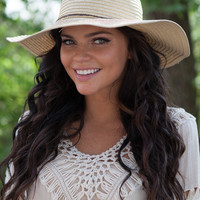 Floppy Straw Hat - Tan