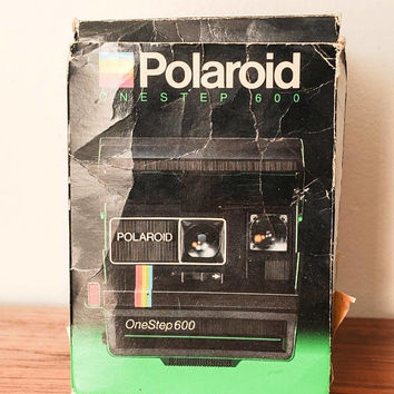 Polaroid onestep 600 Camera with manual + original box - instant camera #536
