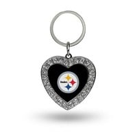 NFL Pittsburgh Steelers Heart Keychain FREE SHIPPING!