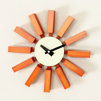 Sunset Block Clock