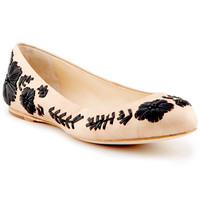 "Some of you have to get in on this: Vince Camuto ""Amaretto"" Leather Flat"