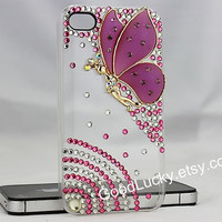 Purple,Angel wings,iphone case,iphone 4/4s case,iphone 5 case,iphone 5s case,iphone 5c case,butterfly phone case,bling iphone case,studded