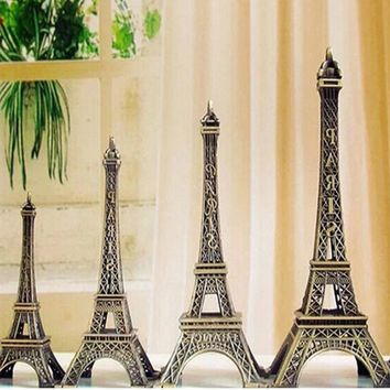 New Arrivials Tower statue vintage style retro bronze tone tower shaped figure statues model home decor