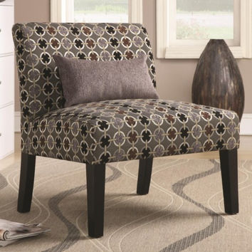 Accent Seating Simple Accent Chair with Armless Style