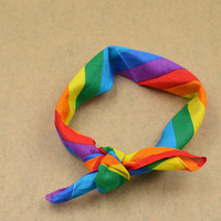 Cotton Rainbow Bandana