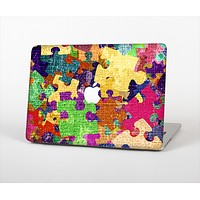 """The Neon Colored Puzzle Pieces Skin Set for the Apple MacBook Pro 15"""""""