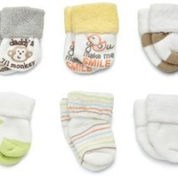 Carter`s Hosiery Baby-girls Newborn 6 Pack Neutral Terry Socks $11.95