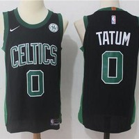Best Sale Online Nike NBA Basketball Jersey Boston Celtics # 0 Black Jayson Tatum