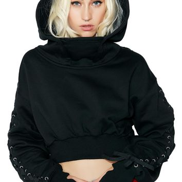 Holdin' Grudges Cropped Hoodie