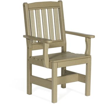 Leisure Lawns Amish Made Recycled Plastic English Garden Chair Model #920 - Ships FREE within 2 to 3 Weeks