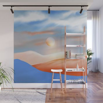 Minimal mountains 02 Wall Mural by vivianagonzlez